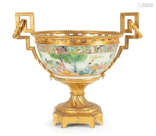 Gilt Bronze-Mounted Porcelain Bowl