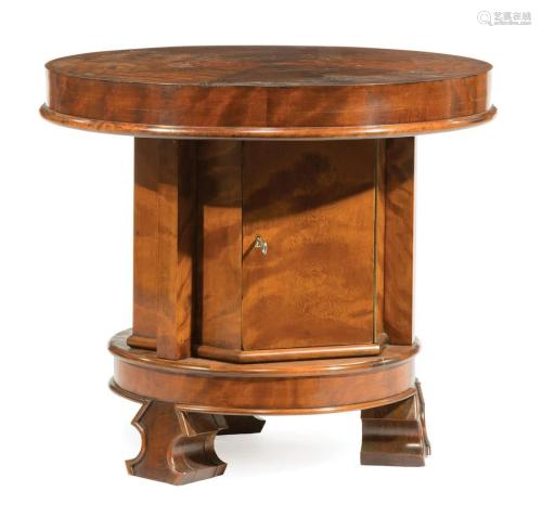 English Satinwood Pedestal Cabinet