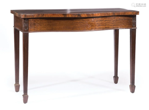 Antique Georgian Carved Mahogany Console Table