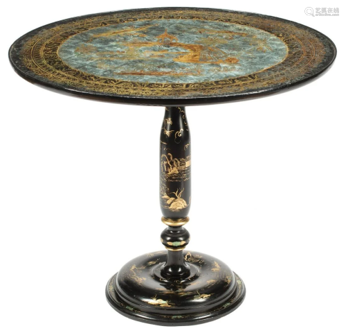 Chinoiserie Lacquered Table