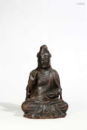 Carved Eaglewood Guanyin statue