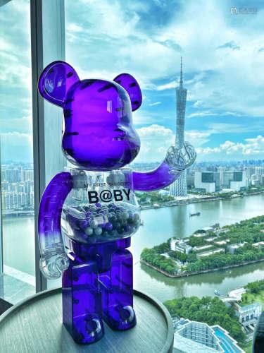 Bearbrick 澳門限定 紫色千秋1000%