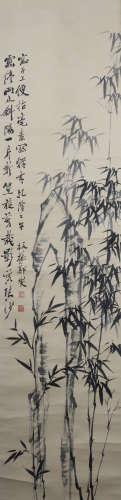 A Zheng banqiao's bamboo painting