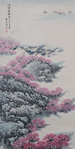 A Song wenzhi's landscape painting