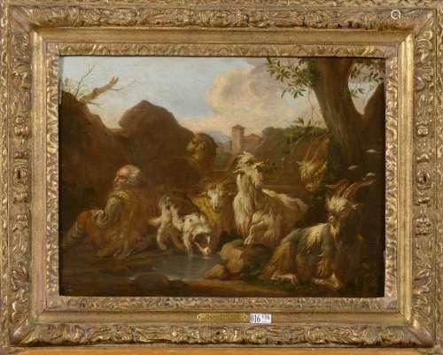 DA TIVOLI Rosa pour ROOS Philipp Peter (1657 - 1706). Entourage de.