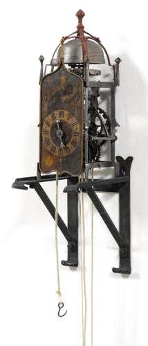 晚期哥特式铁钟德国或意大利,16/17世纪开放式机芯,带有连续行走和...