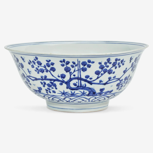 A Chinese blue and white porcelain large bowl Ming