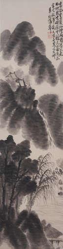 Pu Hua (1832-1911) Landscape in Ink