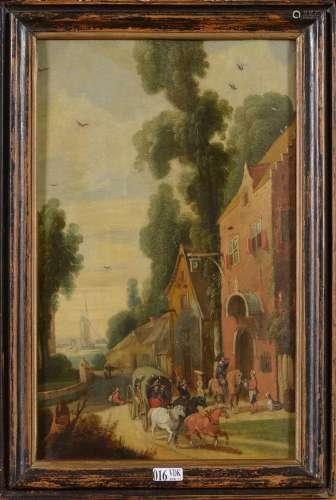 VRANCX Sebastien (1573 - 1647). Entourage de.