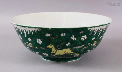 A 19TH / 20TH CENTURY CHINESE FAMILEL VERTE PORCELAIN