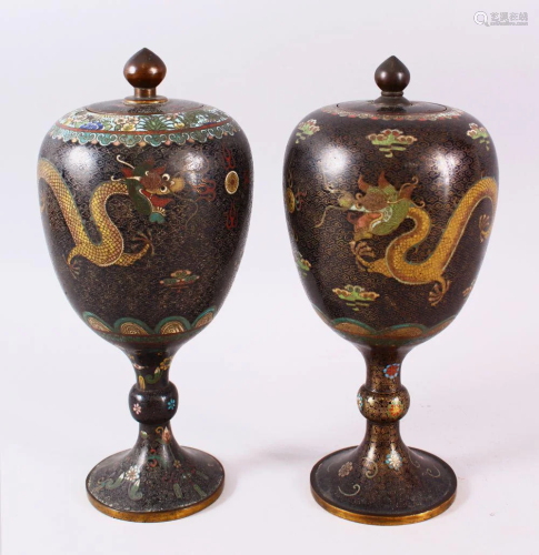 TWO GOOD 19TH CENTURY OR EARLIER CHINESE CLOISONNE S…