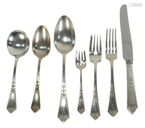 Seventy Two Piece Sterling Silver Flatware Set, hand