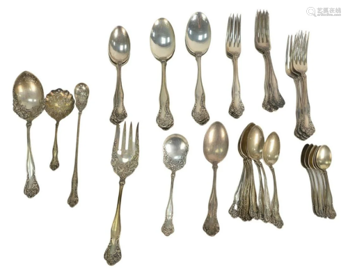 Forty One Piece Sterling Silver Partial Flatware Set,