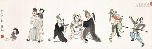 Guan Liang 關良 | Opera Figures 戲劇人物