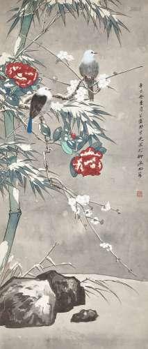 Tian Shiguang 田世光 | Winter Birds 雪竹寒禽