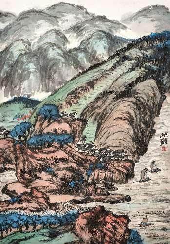 Zhu Qizhan 朱屺瞻 | Vibrant Scenery 山河新貌