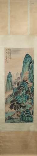 A Zhang daqian's landscape painting