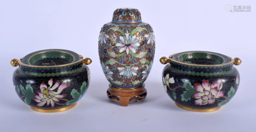 A PAIR OF CHINESE REPUBLICAN PERIOD CLOISONNE E…