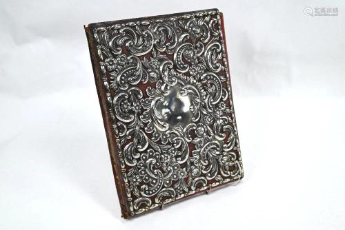 Victorian silver-mounted correspondence folder