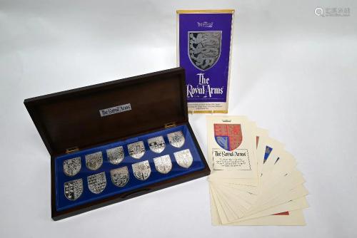 Commemorative silver Royal shields