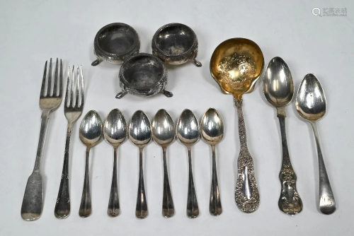 Oddments of Victorian and later silver