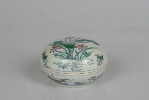 chinese doucai porcelain inkpad