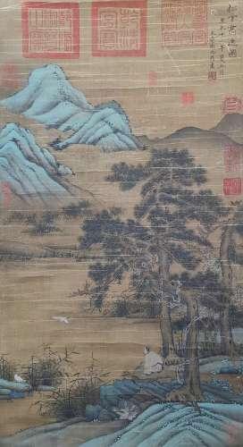 chinese wei jiuding's painting