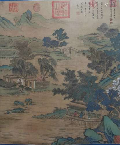 chinese wang meng's landscape painting