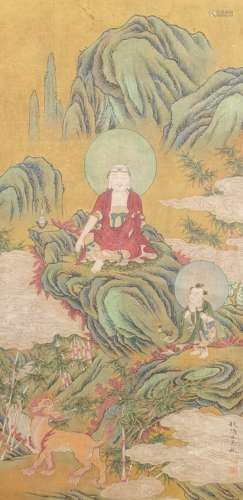chinese Wu bin's figure painting