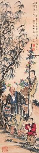 chines xu beihong's figure painting