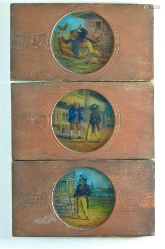 Mahogany-Mounted Carpenter and Westley Hand-Painted Magic La...