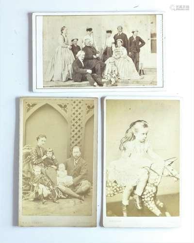 19th Century Carte-de-Visites and Cabinet Cards, children in...