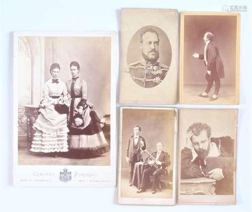 19th Century Danish Carte-de-Visites and Cabinet Cards, cart...