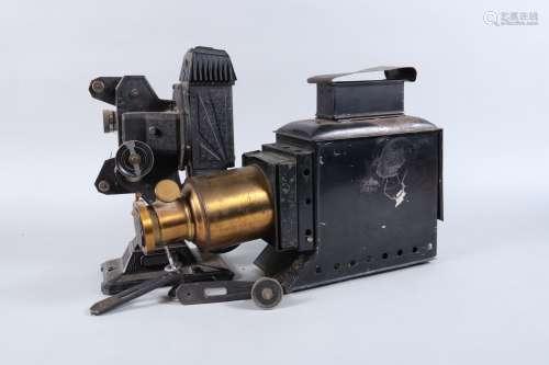 A Medium Size Early 20th Century Magic Lantern, with flue, 6...