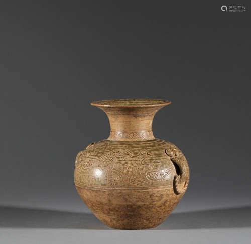 Celadon pot of Tang Dynasty