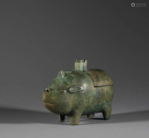Bronze pig in Han Dynasty