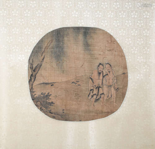 Chinese ink painting (anonymous) silk Mirror Heart