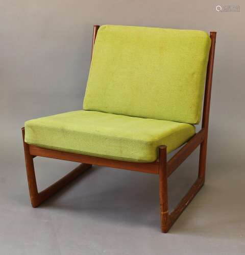 FF CAFFRANCE - DANISH DESIGNER CHAIR a teak low chair with s...