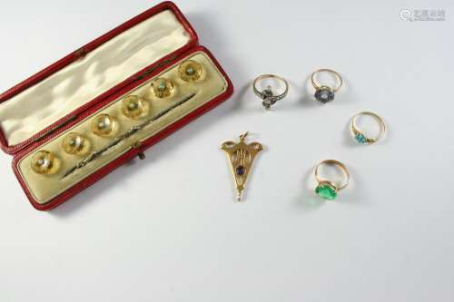 A QUANTITY OF JEWELLERY including a cased set of citrine and...