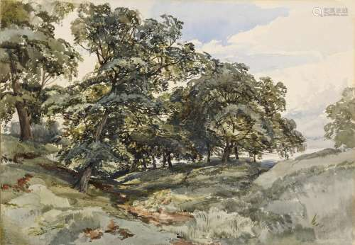 JOHN MIDDLETON (1827-1856) A WOODED LANDSCAPE Dated July -3/...