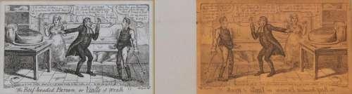 GEORGE CRUIKSHANK (1792-1878) THE BEEF-HEAD PARSON, OR VIALL...