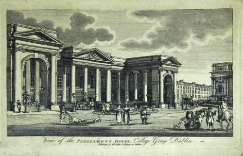 WILLIAM ALLEN (Fl.1778-1829) DUBLIN: VIEW OF THE PARLIAMENT ...