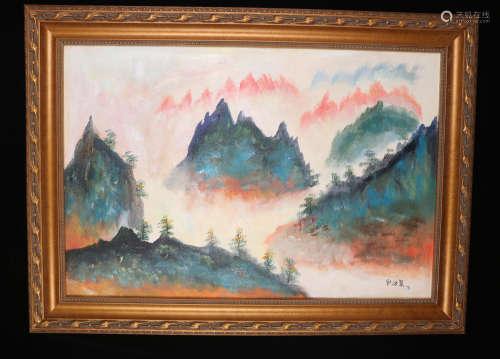 A Liu haisu's landscape Oil Painting