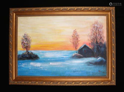 A Wu zuoren's landscape Oil Painting