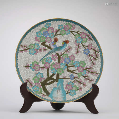 A famille-rose 'floral' dish