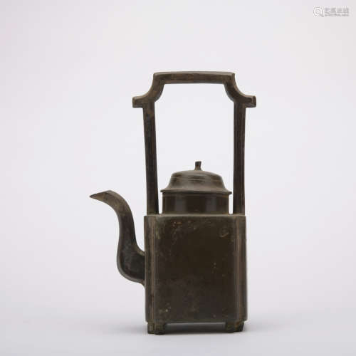 A bronze Beam pot