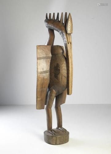 Arte africana A monumental Sejan hornbill sculpture,