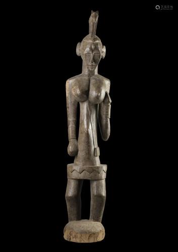 Arte africana Large female figure pombia, SenufoIvory