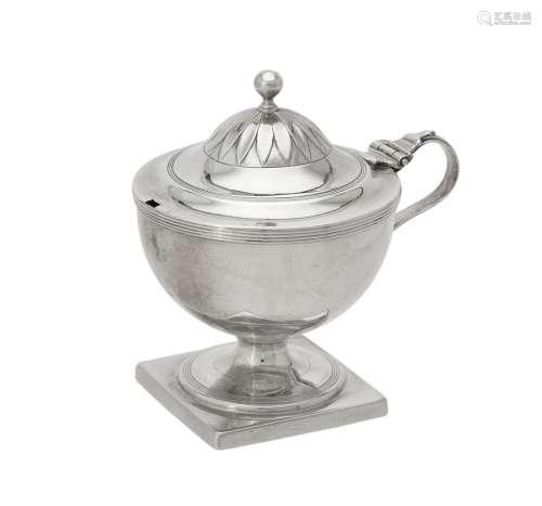 A George III silver pedestal mustard by Robert Hennell I & D...