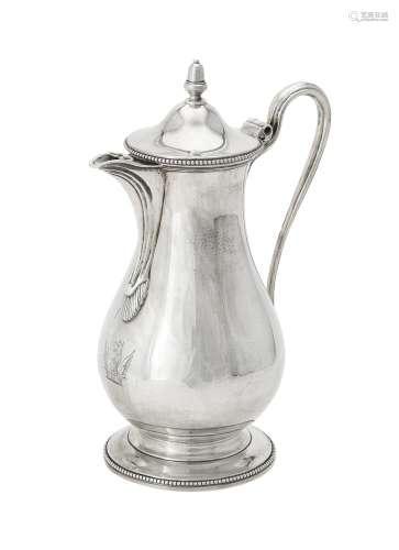A George III silver pear shaped jug by Daniel Smith & Robert...